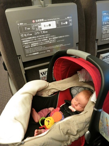 She even sleeps on bullet trains