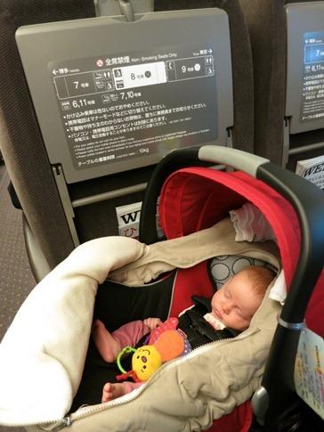She even sleeps on bullet trains