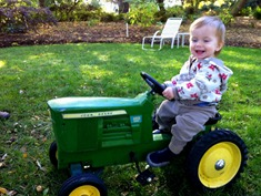 gus on the tractor